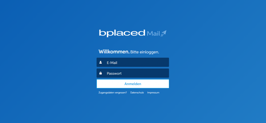 bplaced Webmail: Neue Loginmaske